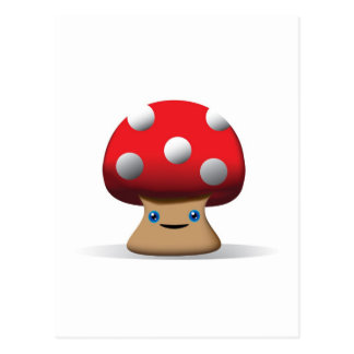 Cute Button Mushroom Postcards