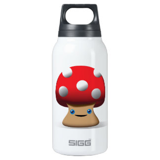 Cute Button Mushroom 10 Oz Insulated SIGG Thermos Water Bottle