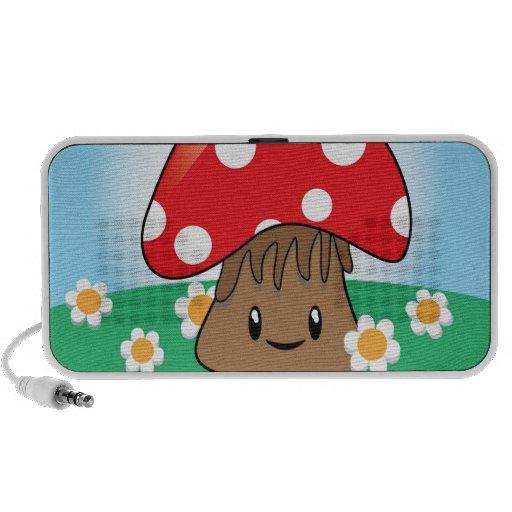 Cute Button Mushroom iPhone Speaker