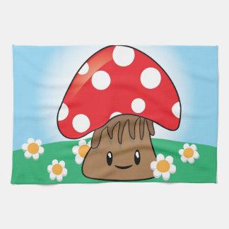 Cute Button Mushroom Kitchen Towel