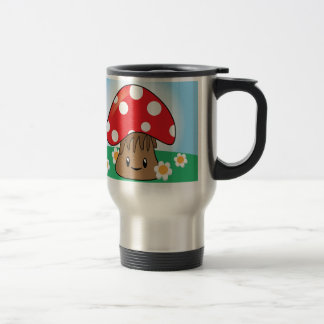 Cute Button Mushroom Travel Mug