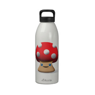 Cute Button Mushroom Drinking Bottle