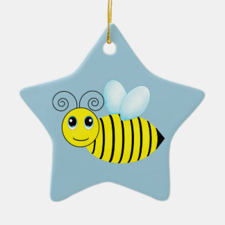 Cute Buzzing Honey Bee Christmas Ornament