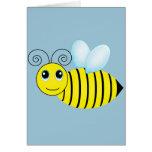 Cute Buzzing Honey Bee Greeting Card