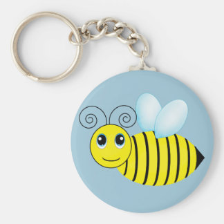 Cute Buzzing Honey Bee Key Ring