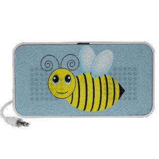 Cute Buzzing Honey Bee Laptop Speakers