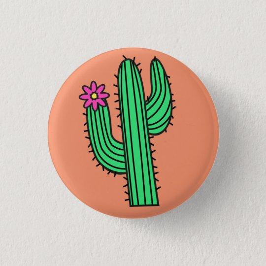 Cute Cactus Badge Pin Button
