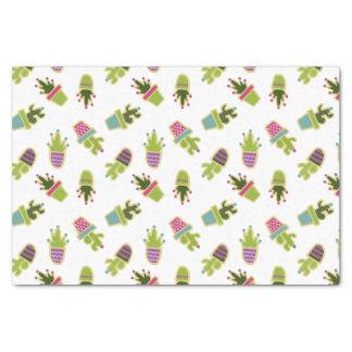Cute cactus design with custom background color tissue paper