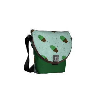 Cute Cactus Kawaii plant messenger bag