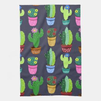 Cute Cactus Pattern Kitchen Towel