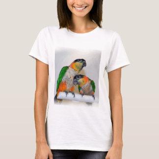 Cute Caique Parrot Pair Shirt