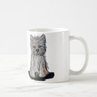 Cute CAIRN TERRIER BALL Mug Birthday Christmas