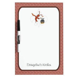 Cute Cajun Crawfish Gumbo Dry Erase Board