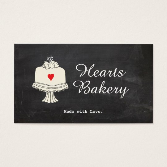 Cute Cake Bake Shop Caterer Business Card