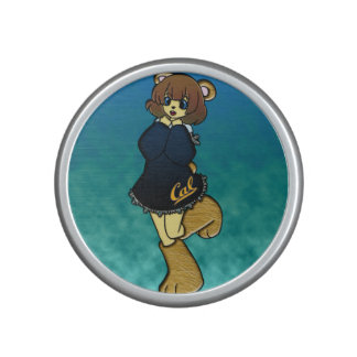 Cute Cal Bear Girl Bluetooth Speaker