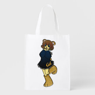 Cute Cal Bear Girl Reusable Grocery Bag
