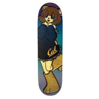 Cute Cal Bear Girl Skateboard Decks