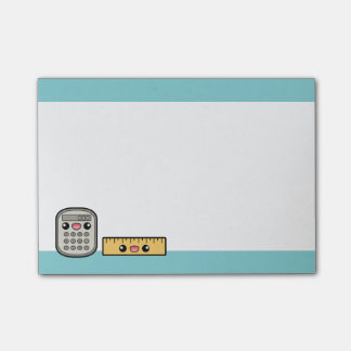 Cute Calculator And Ruler Post-it Notes