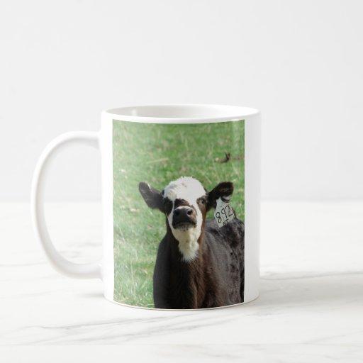 Cute Calf Basic White Mug