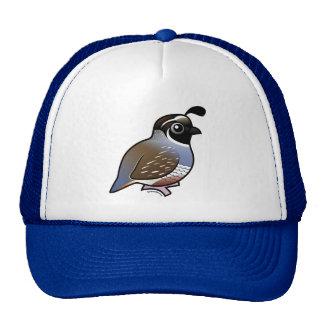 Cute California Quail Mesh Hats