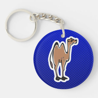 Cute Camel; Blue Key Ring