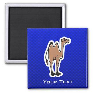 Cute Camel; Blue Square Magnet