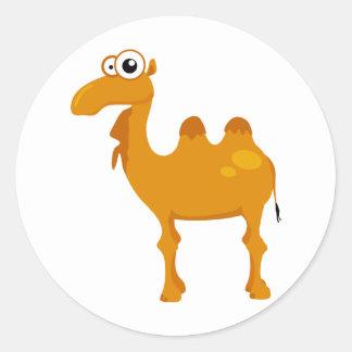Cute camel classic round sticker