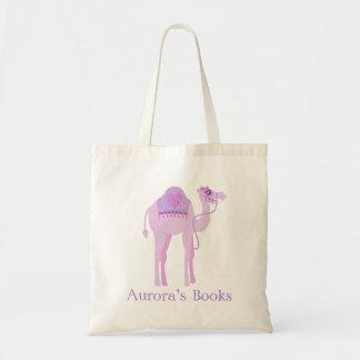 Cute camel girls purple library bag
