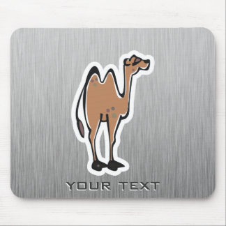 Cute Camel; Metal-look Mouse Pad