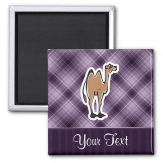 Cute Camel; Purple Square Magnet