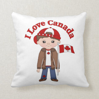 Cute Canada Themed Tees, Gifts for Boys Cushion