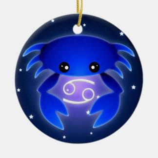 Cute Cancer Zodiac Christmas Ornament