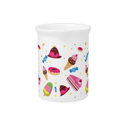 Cute candy and sweet coloured pattern beverage pitcher