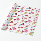 Cute candy and sweet coloured pattern wrapping paper