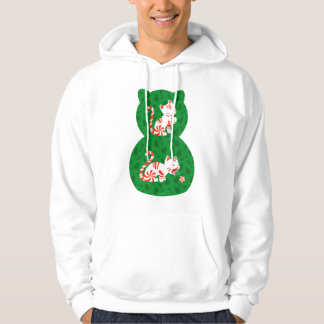 Cute Candy Cane Cat Pullover