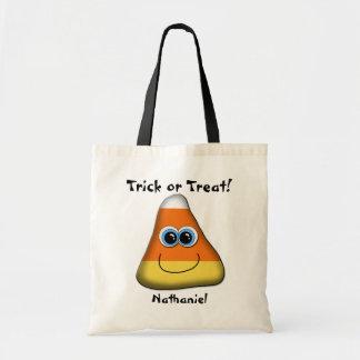 Cute Candy Corn Trick or Treat Tote Bag