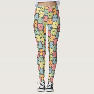 Cute Candy Ghost Pattern Leggings