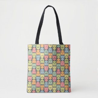 Cute Candy Ghost Pattern Tote