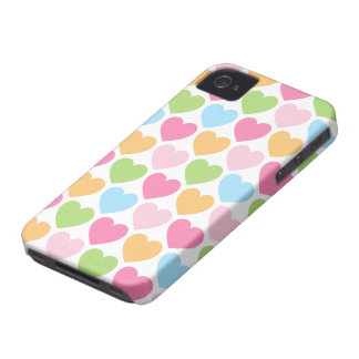 Cute candy hearts girly BlackBerry case for girls