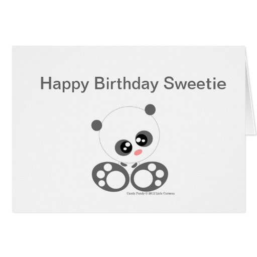 Cute Candy pandy Greeting Card