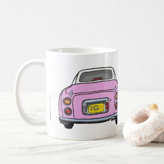 Cute Candy Pink Nissan Figaro Car Mug