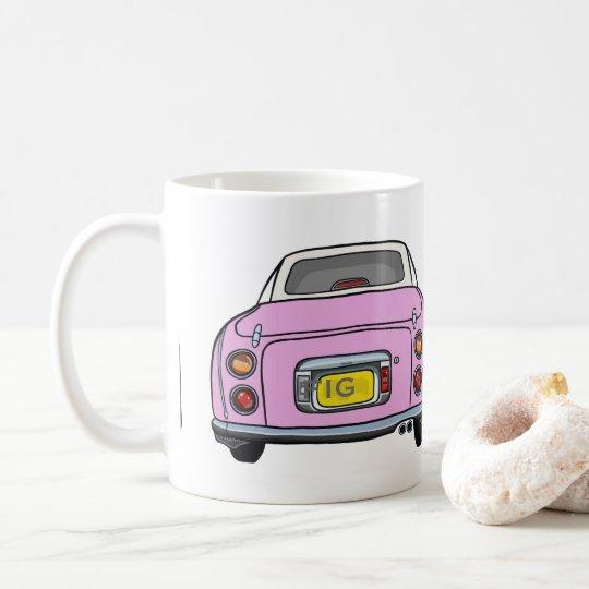 Cute Candy Pink Nissan Figaro Car Mug