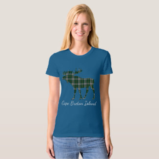 Cute Cape Breton Island moose tartan  shirt blue