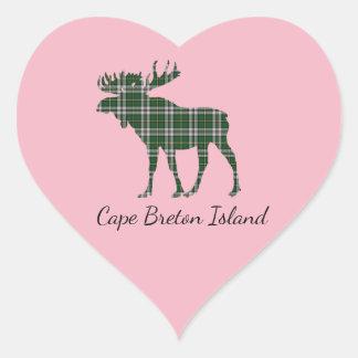Cute Cape Breton Island moose tartan sticker