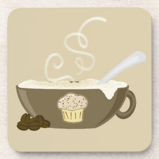 Cute Cappuccino and Cupcakes Coasters in Browns
