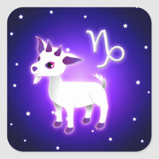 Cute Capricorn Zodiac Square Sticker