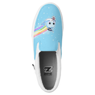 Cute captain narwhal with rainbow printed shoes