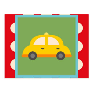 Cute Car Transportation Theme Baby Kids Gifts Postcard