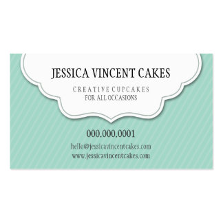CUTE CARD scalloped label tag edge Pack Of Standard Business Cards