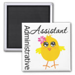 Cute Career Chick Administrative Assistant Refrigerator Magnet